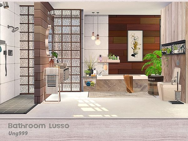 Bathroom Lusso The Sims 4 Download Simsdomination Sims House Sims House Design Sims 4