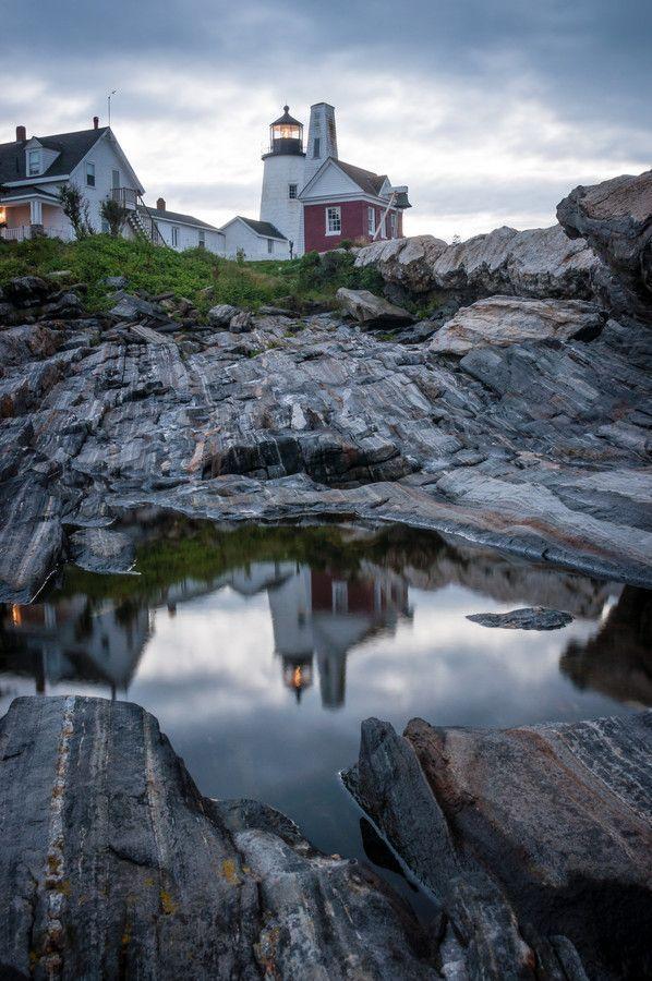 Pemaquid Point lighthouse in Bristol, Maine
