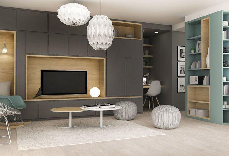 les 25 meilleures id es de la cat gorie salon t l sur pinterest. Black Bedroom Furniture Sets. Home Design Ideas