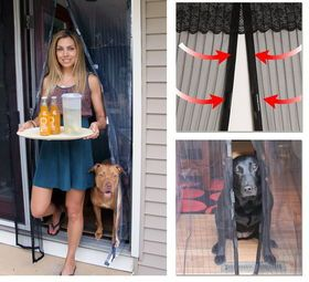Magnetic Mesh Screen Door -works great with my 3 large dogs!