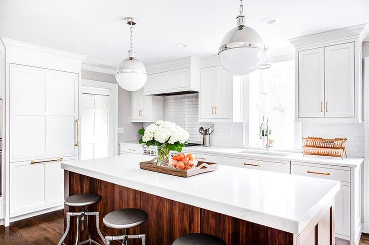 Best Hicks Pendants Over A Wood And White Quartz Countertop 400 x 300