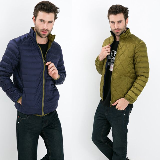 Good price Fall Winter man Duck Down Two Side Wear Jacket Ultra Light Thin Plus Size Winter Jackets Men Fashion Spring Outerwear Coat just only $31.41 with free shipping worldwide  #jacketscoatsformen Plese click on picture to see our special price for you