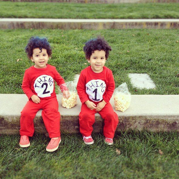 i wouldnt hate it if my girls married them thing 1 and thing 2 halloween costume by mama mandolin - Thing 1 Thing 2 Halloween Costume
