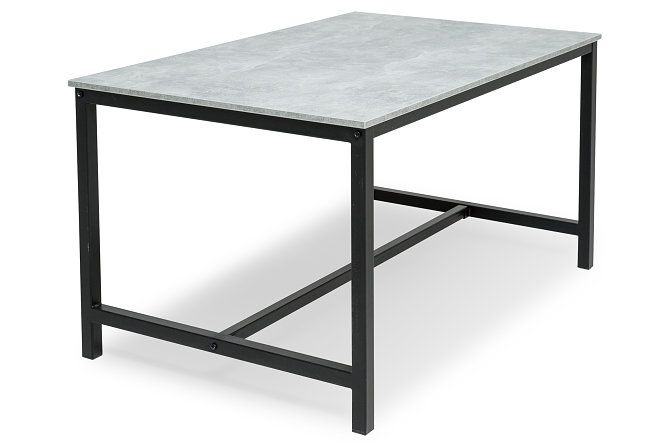 Spisebord Bettina 140x90 cm Svart/Betong | Chilli.no