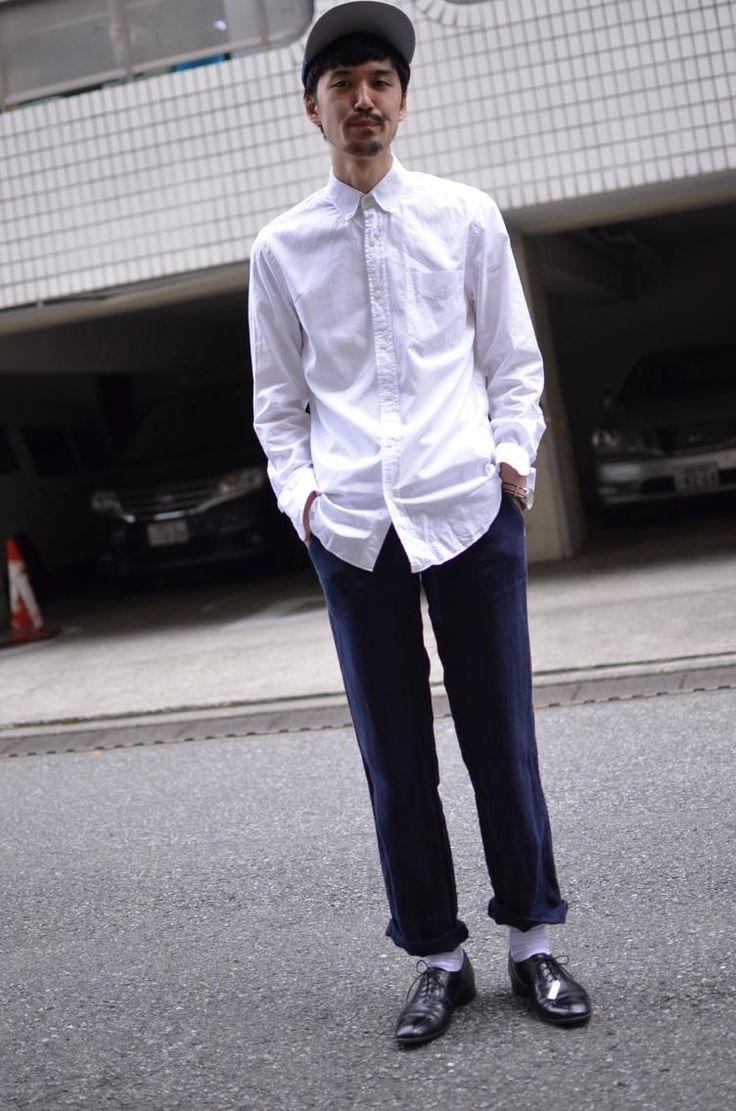 """J.CREW"" Shirt & Linen Pants"