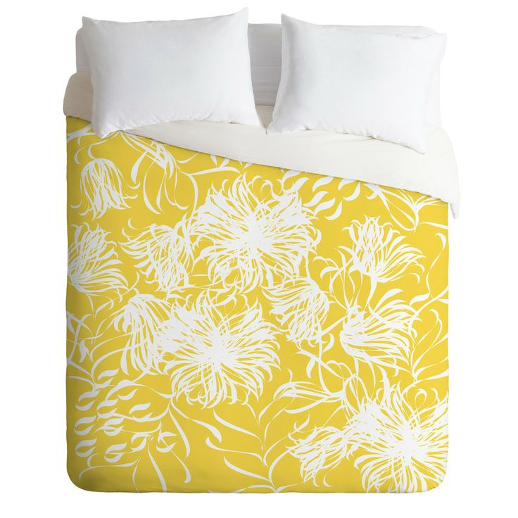 Vy La Bright Breezy Yellow Duvet Cover | DENY Designs Home Accessories