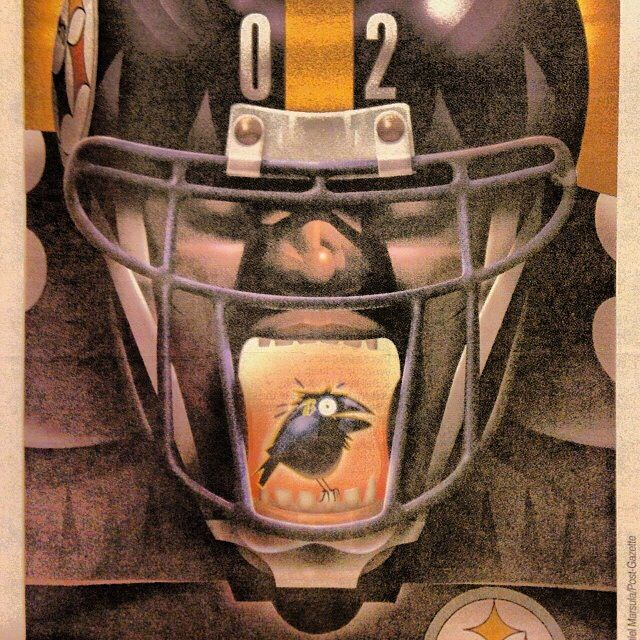 Pittsburgh Steelers illustration from the Pittsburgh Post Gazette. Steelers > Ravens