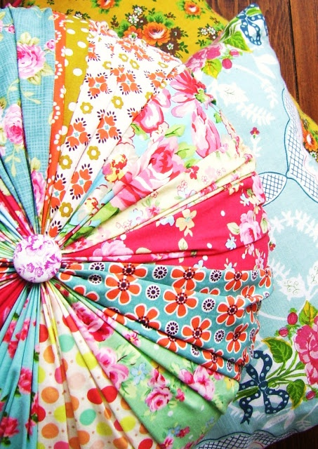 silly old suitcase: gathered round cushion cover