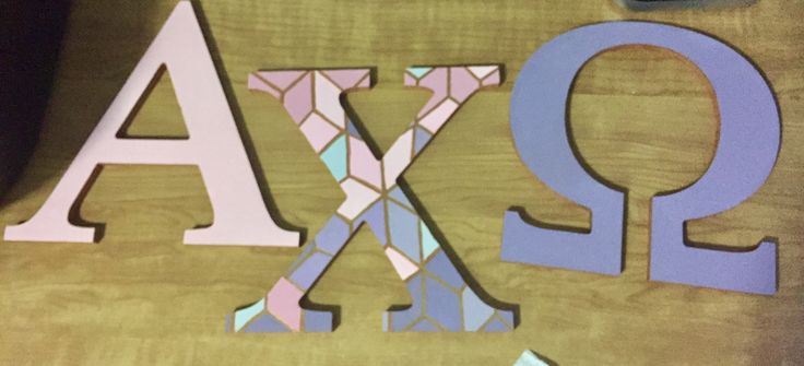 SARA ♚ SHREEVE INSTA: @shreevalicious  Little Caitlyn's mosaic alpha chi omega sorority letters