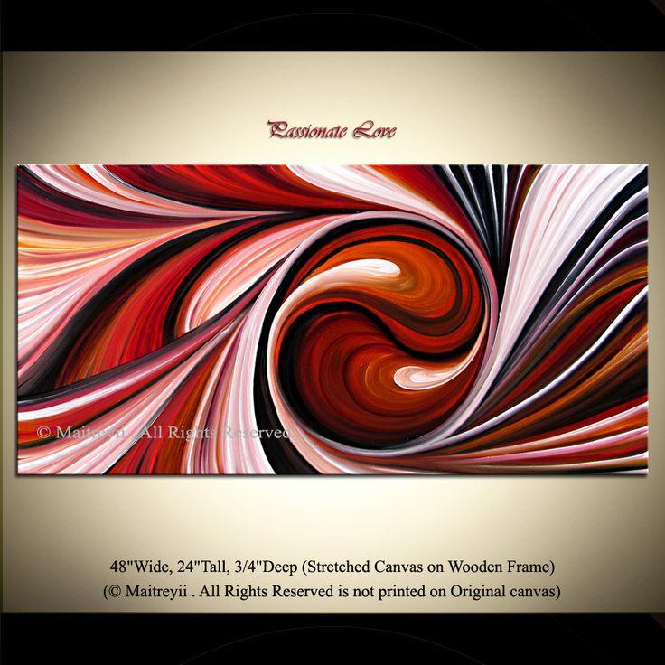Palette Knife Swirl Texture Original Abstract by orignalmodernart. $380.00, via Etsy.
