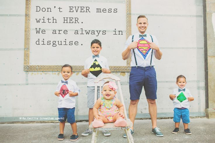 """Replace the quote with just """"Her superheroes"""""""