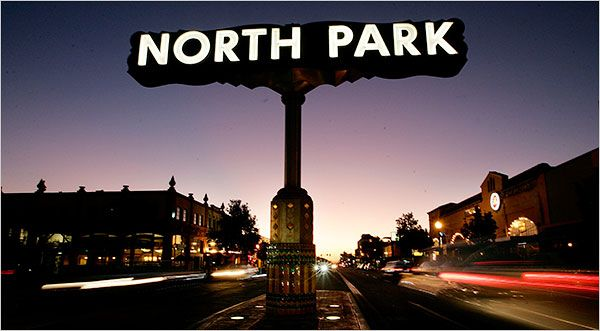 Come visit the hip neighborhood of North Park in San Diego, where bars, restaurants and a younger crowd have revitalized the atmosphere. Image via New York Times.