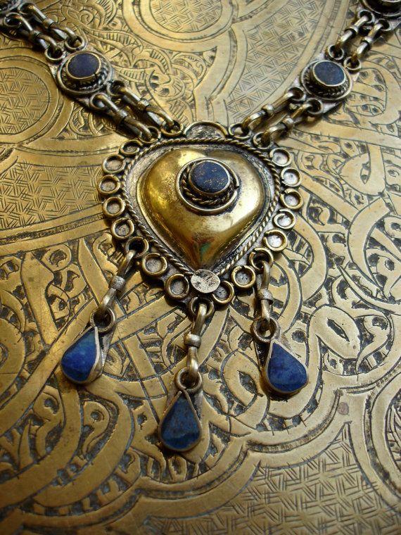 Afghani lapis necklace