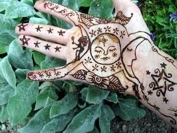 the triple goddess in henna