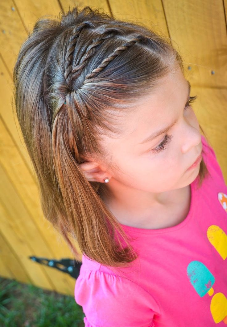 Amazing 1000 Ideas About Little Girl Braids On Pinterest Girls Braids Short Hairstyles For Black Women Fulllsitofus
