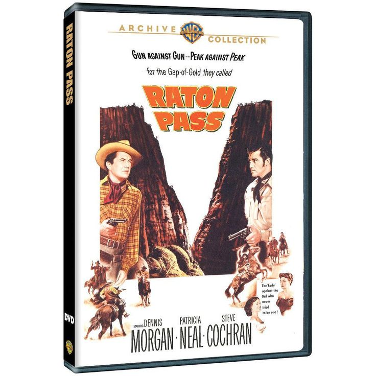 """Raton Pass (1951) from Warner Bros.: """"In this action-packed Western, a cattleman is swindled out of his ranch by… #Movies #Films #DVD Video"""