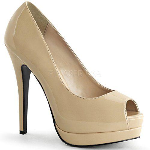 Bordello by Pleaser High Heels Pumps BELLA-12 Lack Creme, Größe F:9 US / 39 - http://on-line-kaufen.de/bordello-2/bordello-by-pleaser-high-heels-pumps-bella-12-lack