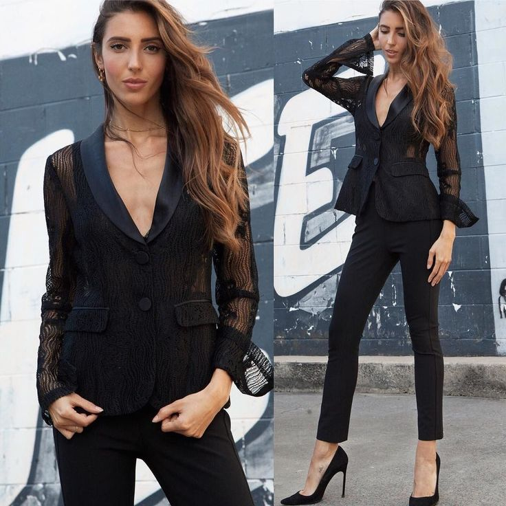 This sophisticated look is guaranteed to turn heads  New lace blazer in store from @shop_alexis