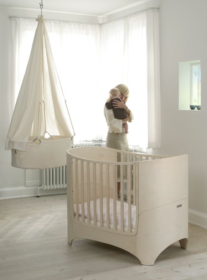 White baby nursery - Window to master bedroom. Later in life turn into office or extended bedroom