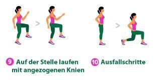 7-Minuten-Workout: Auf der Stelle laufen & Ausfallschritte