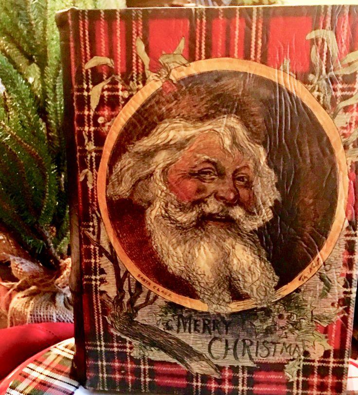 Plaid Santa book makes me happy