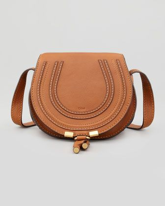 Marcie Small Crossbody Satchel Bag, Tan by Chloe at Bergdorf Goodman.