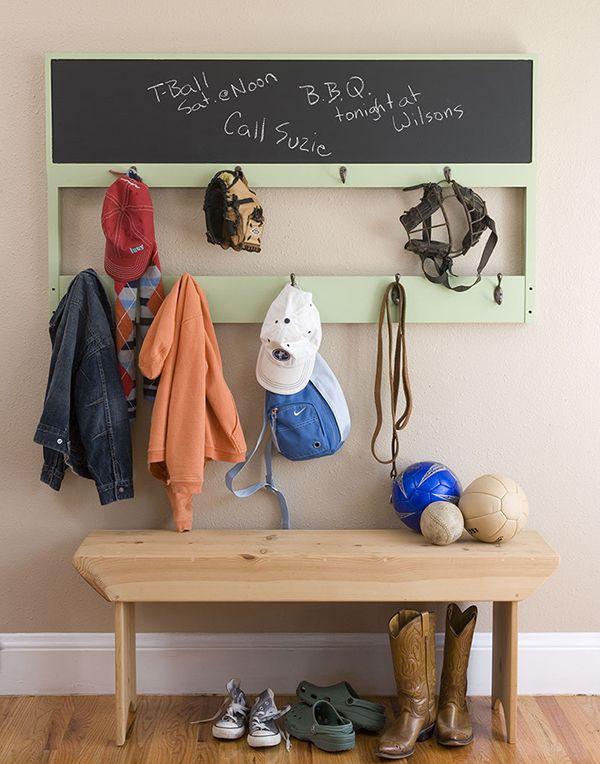 Chalk Board Coat Rack