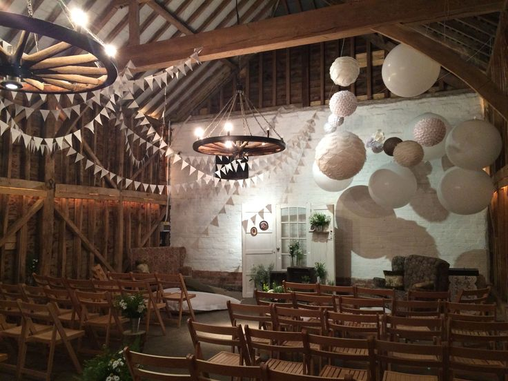 Over Barn Gloucester Set Up For A Wedding Ceremony