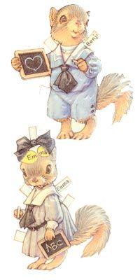 Benjamin & Emma Bushytail by Kathy Lawrence-Downloadable e-Paper Doll