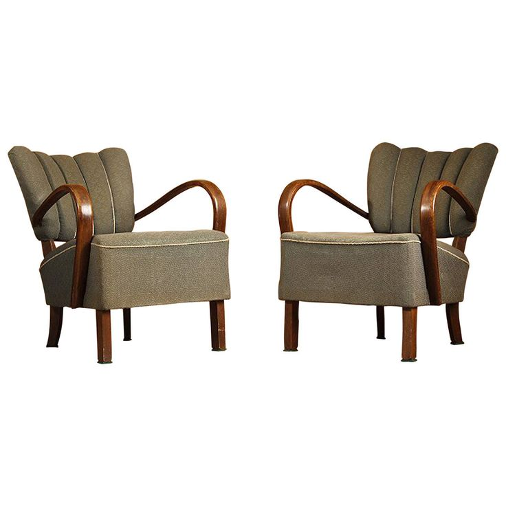 armchairs modern furniture. pair of jindrich halabala h-237 art deco armchairs modern furniture c