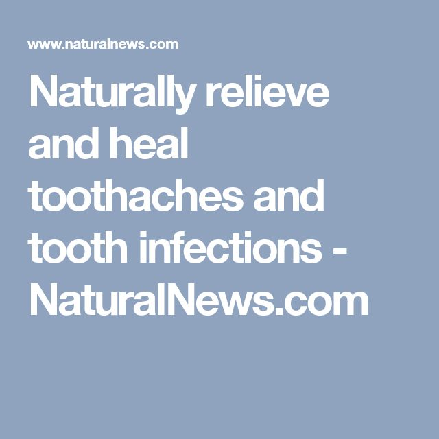 how to help a toothache infection