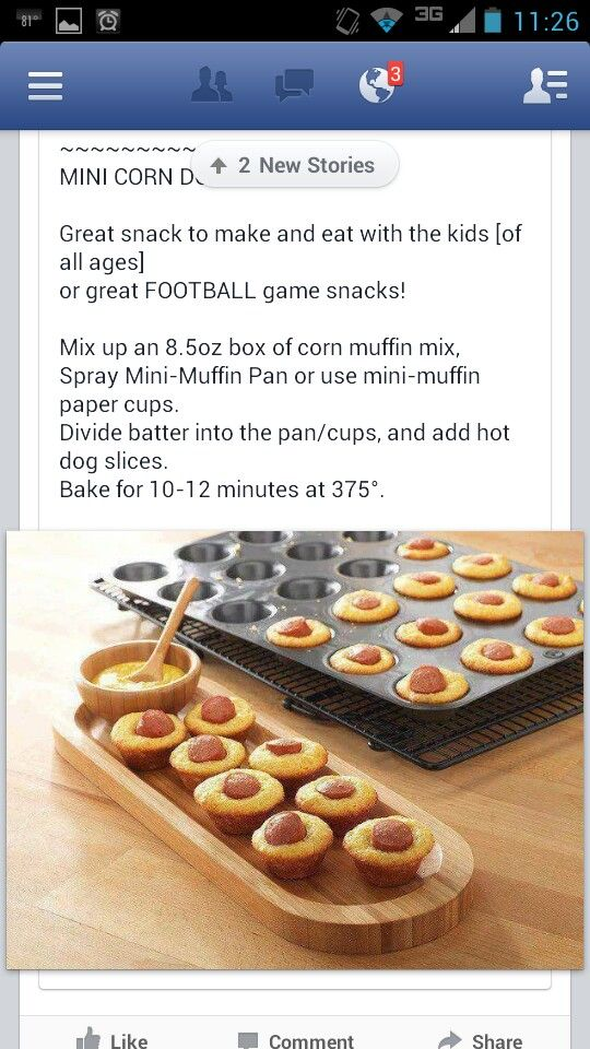 Corn dog bites--I might make these instead of the GF ones, just buy organic nitrate free dogs, and use whole wheat and organic corn meal, and mix some veggies in perhaps. A nice healthy carb and proten meal for my sweet baby girl!