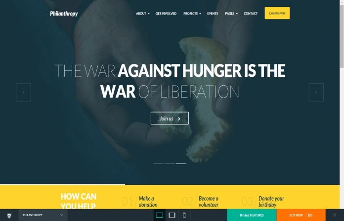 Philanthropy - Responsive #nonprofit #WordPress theme that has all it takes if you are looking for a website that stands our from the crowd.