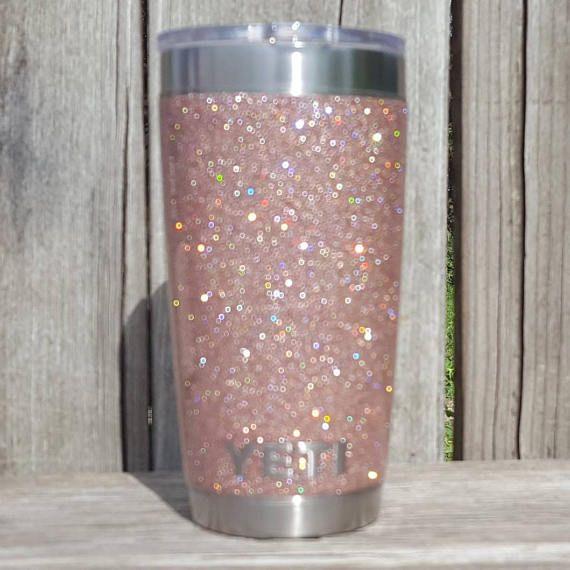 Glitter Yeti Cup Tumbler Stainless Steel 20 oz YETI Rambler