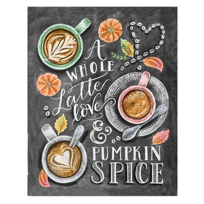 A Whole Latte Love - Print #Coffee #Cooking #Fall