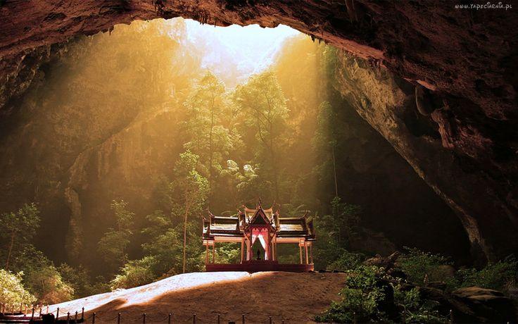 Tajlandia, Świątynia, Phraya Nakhon, Jaskinia, Drzewa