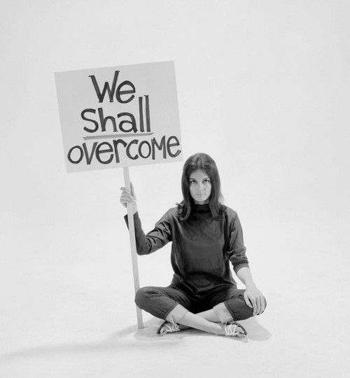 Gloria Steinem, 1965  photo by Yale Joel