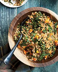 Wheat Berry Salad with Tuscan Kale and Butternut Squash Recipe on Food & Wine