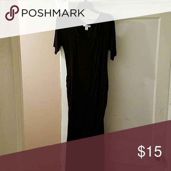 Black maternity dress Black short sleeve maternity dress Motherhood Maternity Dresses Maxi