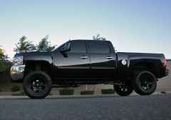 Blacked out Lifted Chevy Silverado 2500hd.  #rims  #wheels #chevy  #truck