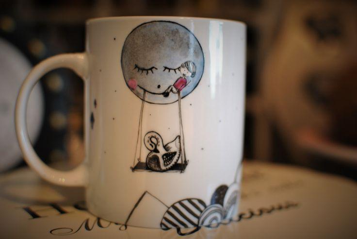 mug handpainted for a little girl