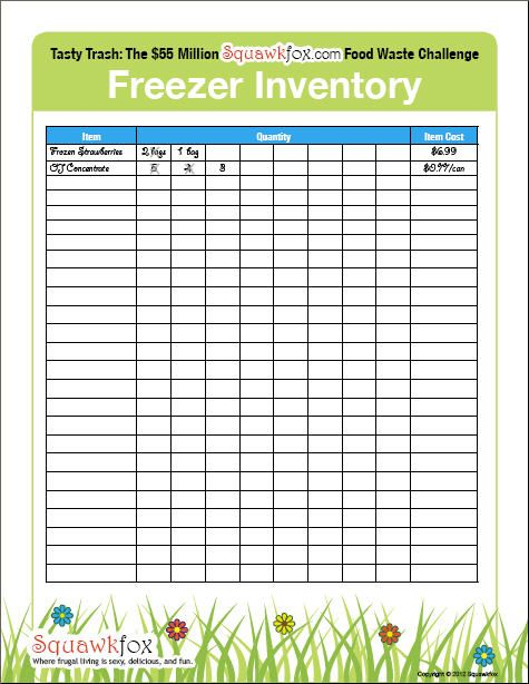Best 25+ Freezer inventory printable ideas on Pinterest Pantry - Inventory Sheet Sample