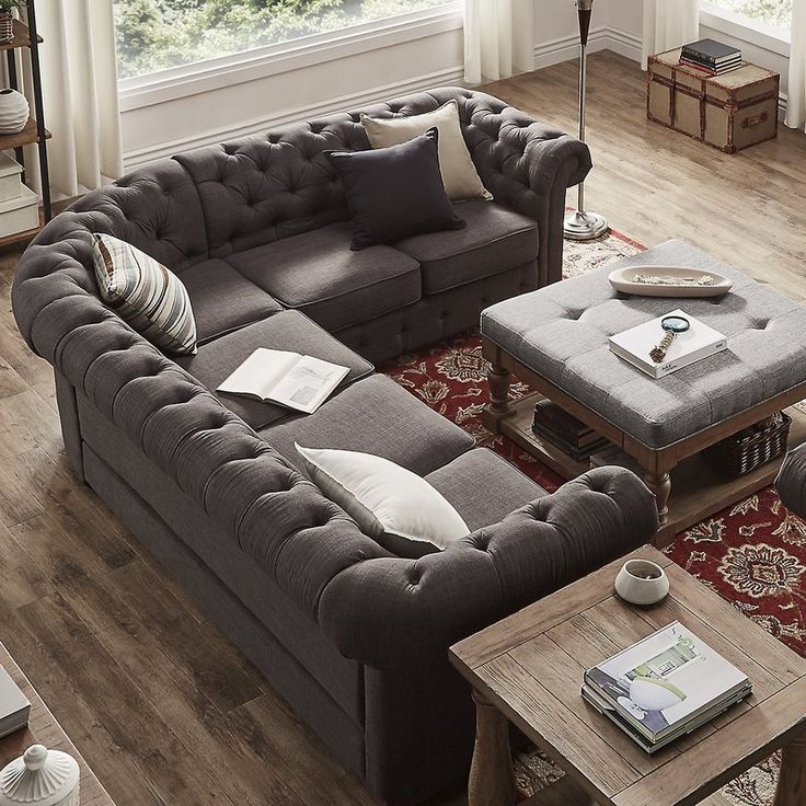Gowans Symmetrical Sectional In 2019 Tufted Sectional