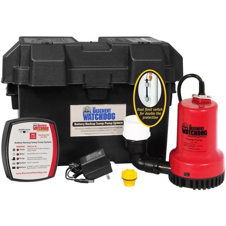 Basement Watchdog 0.25-HP Plastic Battery-Powered Sump Pump