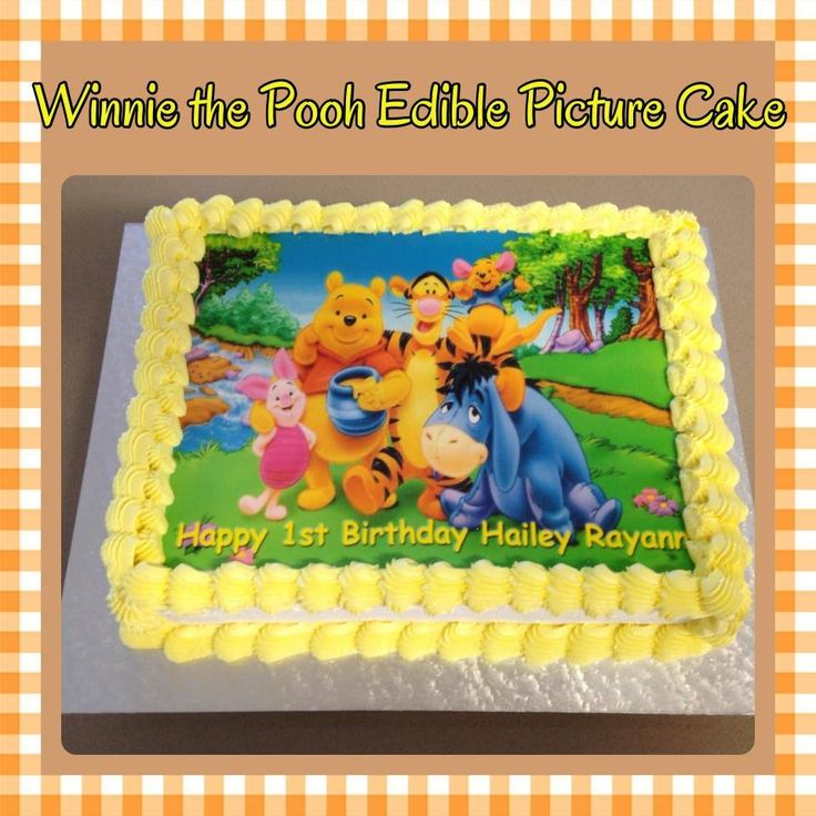 Winnie the Pooh and Friends Edible Picture Cake