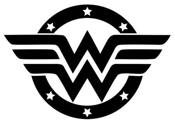 Wonder Woman Logo Decal Etsy Wonder Woman Logo Wonder Woman Car Sticker Design
