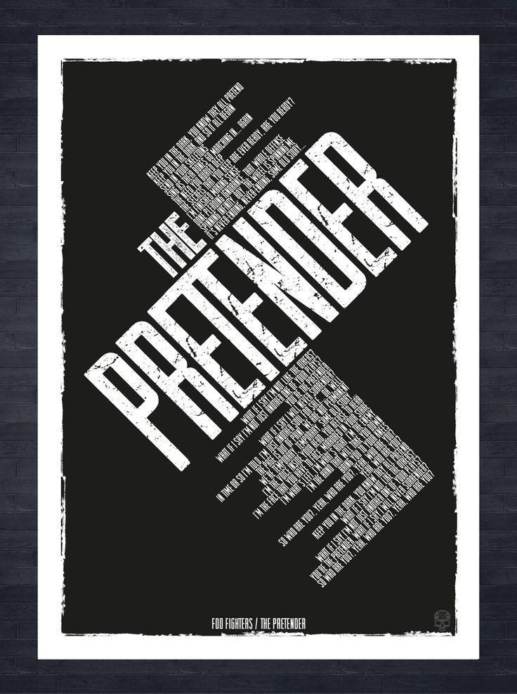 Foo Fighters The Pretender Song Lyrics A3 Print Created In Adobe Illustrator Vector Artwork