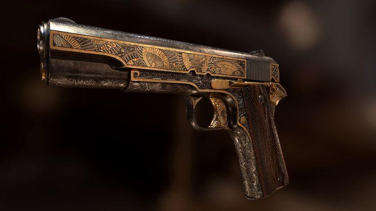Colt 1911 Yakuza style, Arek Woźniak on ArtStation at…