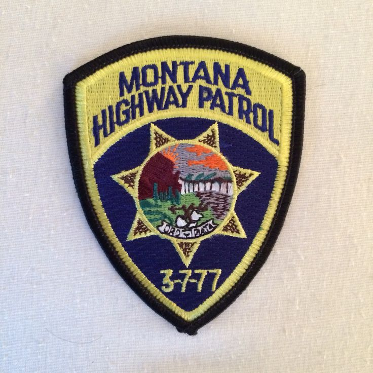 Montana Highway Patrol Police patches, State police