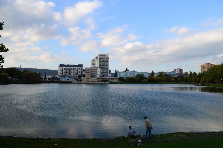 lake in Bratislava